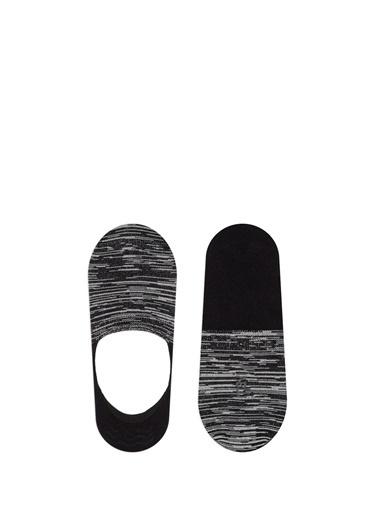 Mavi Çizgili  Çorap Siyah